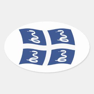 Martinique Flag Sticker