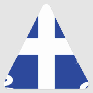 Martinique Flag Triangle Sticker