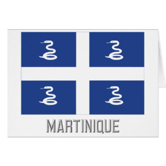 Martinique flag with name card