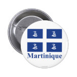 Martinique Flag with Name Pin