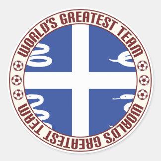 Martinique Greatest Team Classic Round Sticker