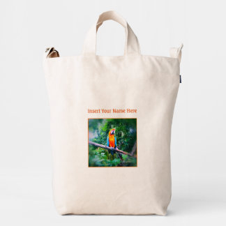 Martinique Macaw Personalize Duck Bag