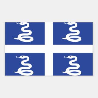 Martinique Rectangular Sticker