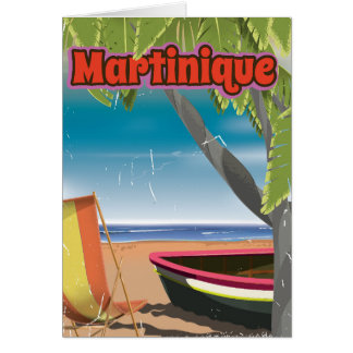 Martinique Vintage travel poster Card