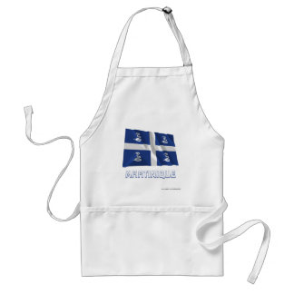 Martinique Waving Flag with Name Adult Apron