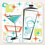 """Martinis A Go-Go Drink Coasters<br><div class=""""desc"""">What&#39;s a party without coasters?! Check out other Cricket Studio&#39;s martini designs to coordinate napkins,  serving trays,  party plates and more!</div>"""