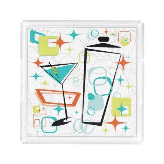 Martinis A Go-Go Small Square Tray