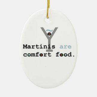 Martinis are Comfort Food Ceramic Ornament