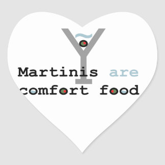 Martinis are Comfort Food Heart Sticker