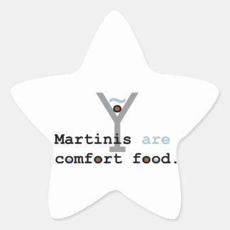 Martinis are Comfort Food Star Sticker
