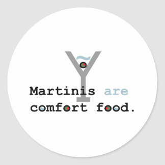 Martinis are Comfort Food Stickers