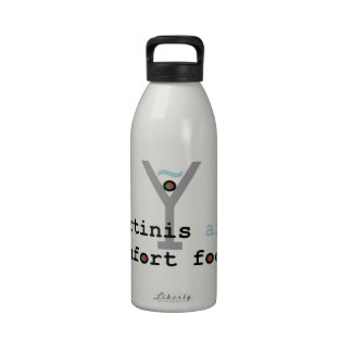 Martinis are Comfort Food Reusable Water Bottles