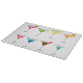 Martinis Cocktails Cutting Board