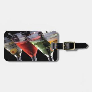 Martinis de lujo etiqueta de equipaje