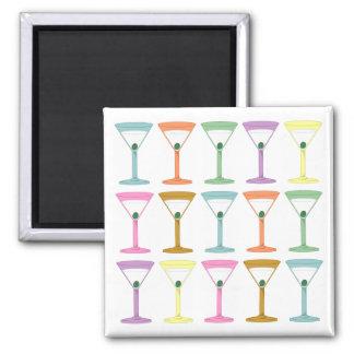 Martinis del arte pop imán para frigorífico