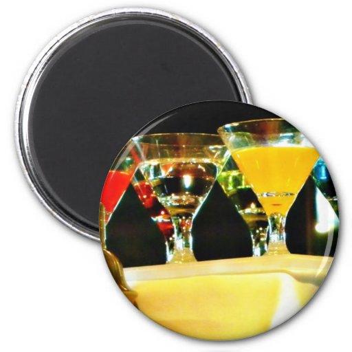 martinis grises del ganso imán redondo 5 cm