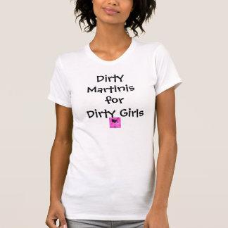martinis martini-chica-rosados, sucios para los camiseta