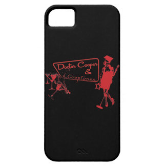 martini's & Music - Red and Black iPhone case
