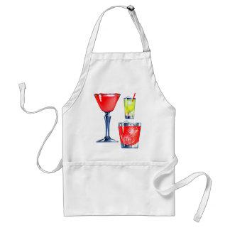 Martinis retros de las bebidas de los cócteles del delantal