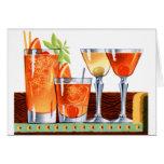 Martinis retros de las bebidas de los cócteles del felicitacion