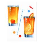 Martinis retros de las bebidas de los cócteles del tarjeta postal