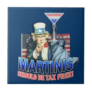 Martinis Should be Tax Free Coaster Tile