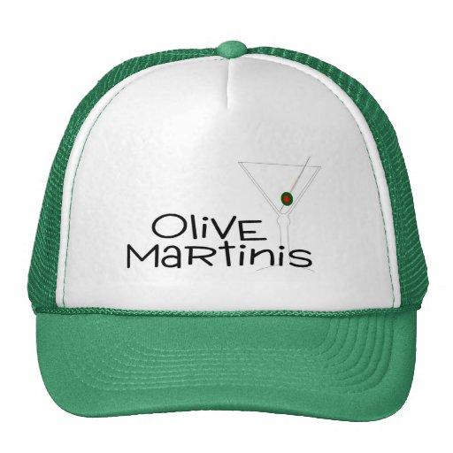 Martinis verdes olivas gorras