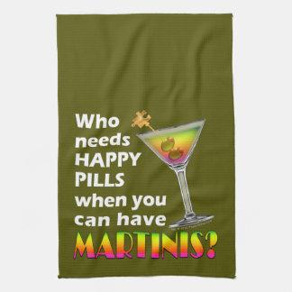 MARTINIS vs. HAPPY PILLS Kitchen, Bath, Bar TOWEL