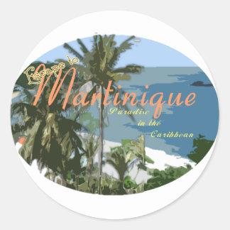 Martinque Classic Round Sticker
