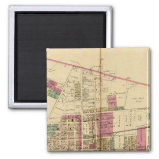 Martin's Ferry 2 Inch Square Magnet