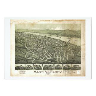 Martin's Ferry Ohio by Thaddeus Fowler (1899) Card