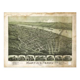 Martin's Ferry Ohio by Thaddeus Fowler (1899) Postcard