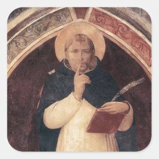 Mártir del Fra Angelico- San Pedro Calcomanías Cuadradass Personalizadas