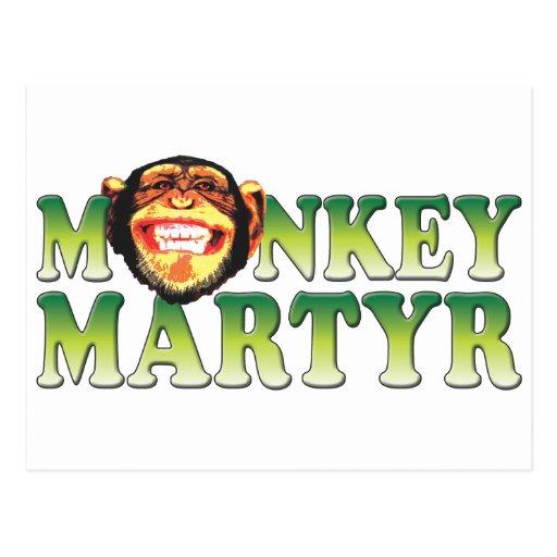 Mártir del mono postal