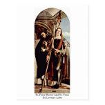 Mártir y St. Vitus de San Pedro de Lorenzo Lotto Tarjetas Postales