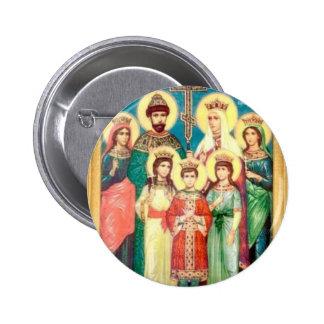 Mártires reales santos pin redondo de 2 pulgadas