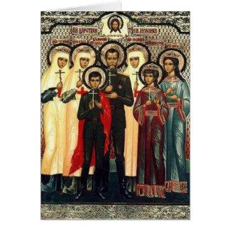 Mártires reales santos tarjetón