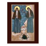 Mártires santos Elizabeth y tarjeta del rezo de Postal