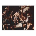 Martirio de Caravaggio- de St Matthew Tarjeta Postal