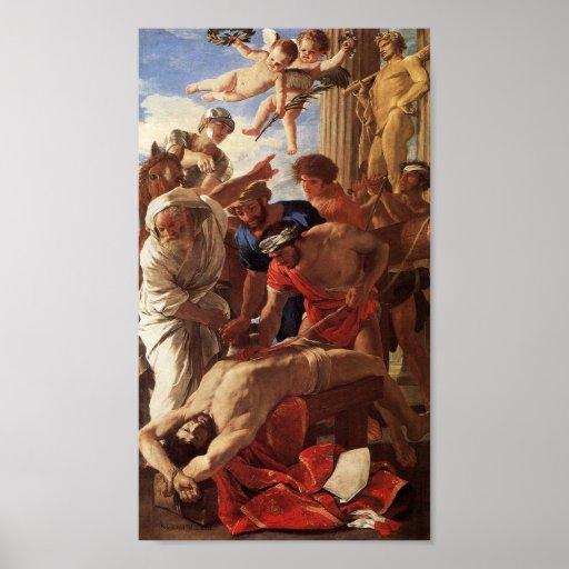 Martirio de Erasmus del St de Nicolás Poussin Póster