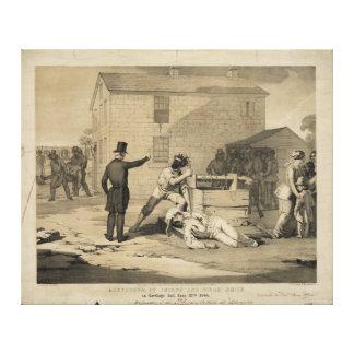 Martirio de José y de Hiram Smith en la cárcel de Impresiones En Lona