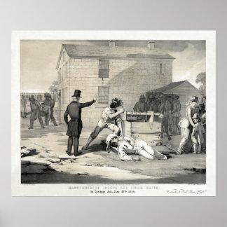 Martirio de José y de Hiram Smith en la cárcel de  Posters