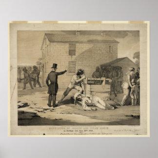 Martirio de José y de Hiram Smith en la cárcel de Poster