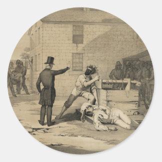 Martirio de José y de Hiram Smith en la cárcel de Etiqueta Redonda