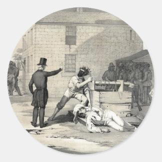 Martirio de José y de Hiram Smith en la cárcel de Pegatina Redonda