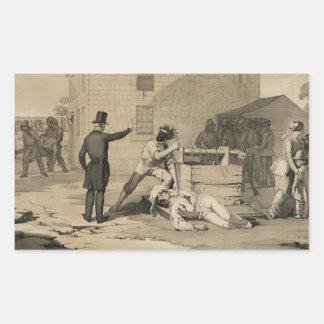 Martirio de José y de Hiram Smith en la cárcel de Pegatina Rectangular