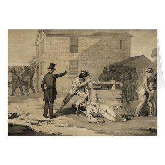 Martirio de José y de Hiram Smith en la cárcel de Tarjeta De Felicitación