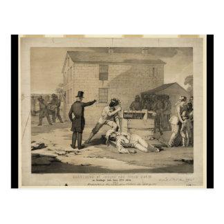 Martirio de José y de Hiram Smith en la cárcel de Tarjeta Postal