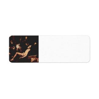 Martirio de Jusepe de Ribera- The de St Andrew Etiqueta De Remite