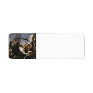 Martirio de Jusepe de Ribera- The de St Philip Etiquetas De Remite